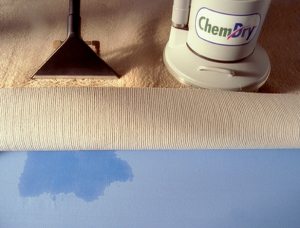 Carpet cleaning by Chem-Dry uses less water and dries faster